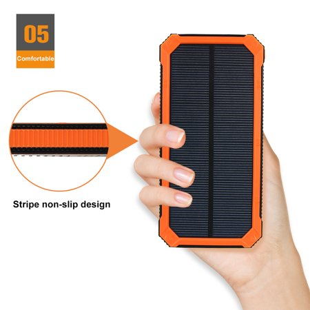 300000mAh Waterproof Solar Power Bank Dual USB Battery Phone Charger for Emergency Outdoor Camping Travel Portable   - image 11 of 12