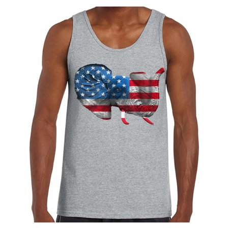 Awkward Styles American Flag Tank Tops for Men Elephant Stars and Stripes USA Flag Tank Top Men's Patriotic Outfit Perfect for 4th Of July Party Independence Day Gifts for Him - Also Perfect Tank