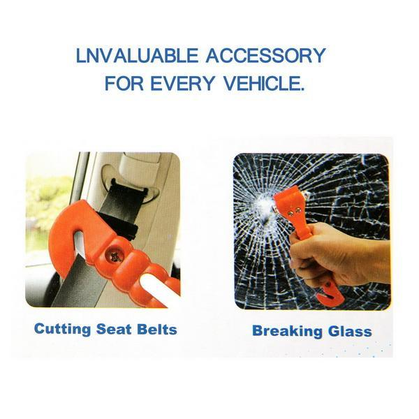 Coocheer Car Auto Emergency Safety Hammer Belt Window Glass Breaker Punch Cutter Bus Escape Rescue Tool Kit Survival Gear BTC