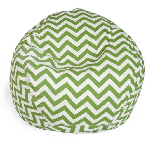 Majestic Home Goods Chevron Small Classic Bean Bag Sage