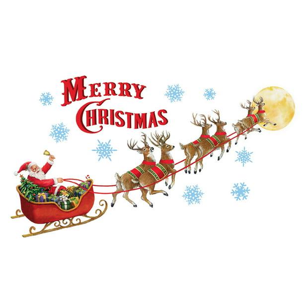 Santa S Sleigh Garage Door Magnets Outdoor Decoration Merry Christmas Walmart Com Walmart Com