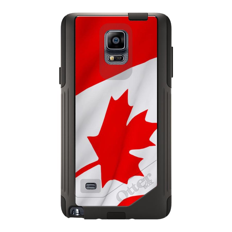 DistinctInk Custom Black OtterBox Commuter Series Case for Samsung Galaxy Note 4...