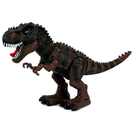 Dinosaur Century Tyrannosaurus Rex T-Rex Battery Operated Toy Dinosaur Figure w/ Realistic Movement, Lights and Sounds (Colors May Vary) - T Rex Model