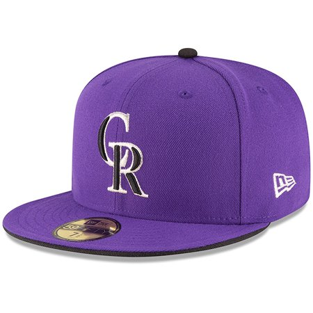 Colorado Rockies New Era Authentic Collection ON Field 59FIFTY Structured Hat - Purple