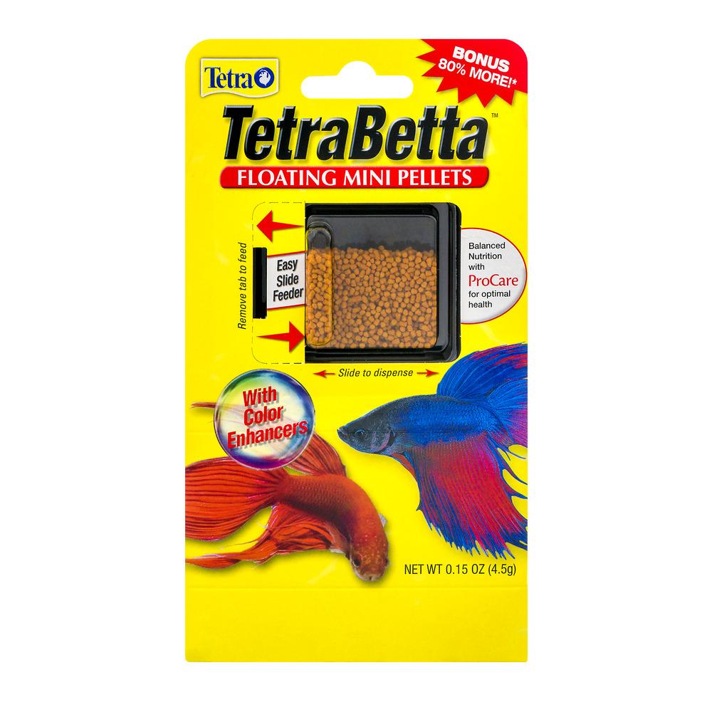 2 Pack Tetrabetta Floating Mini Pellets Betta Fish Food 0 15 Oz Walmart Com Walmart Com