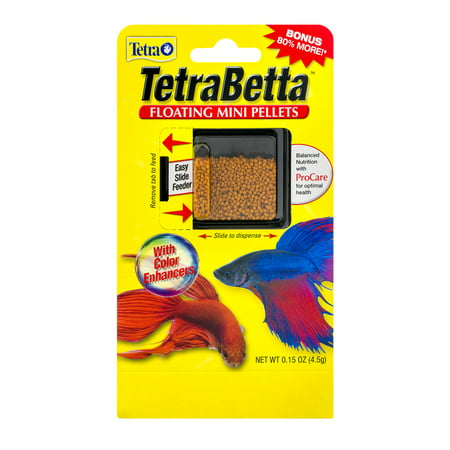 (2 Pack) TetraBetta Floating Mini Pellets Betta Fish Food, 0.15 oz