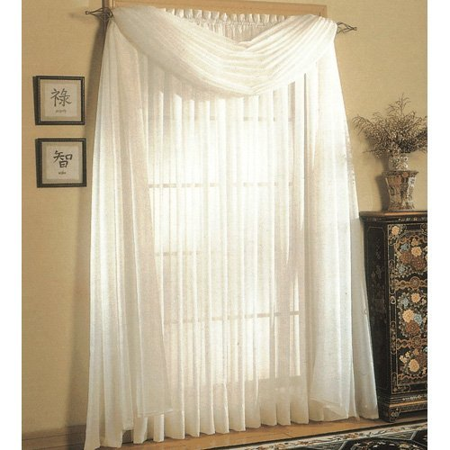 United Curtain Venice Crushed Voile Curtain Panel
