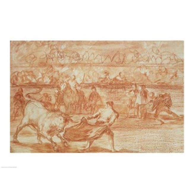 Posterazzi BALXKH179017LARGE Bullfighting Poster Print by Francisco De Goya - 36 x 24 in. - Large - image 1 de 1