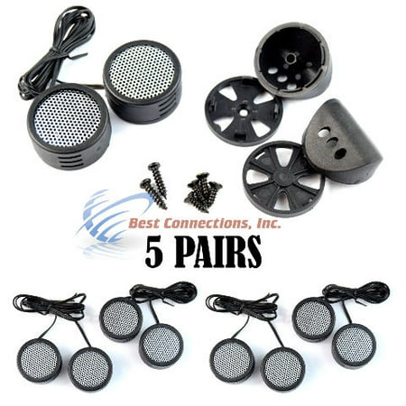 Car Audio Super Tweeters With Built In Crossovers 500 Watt 5 Pairs (Best Value Car Speakers)
