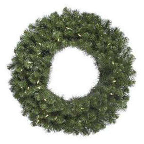 """Vickerman 48"""" Douglas Fir Wreath 480T 200 Warm White LED"""