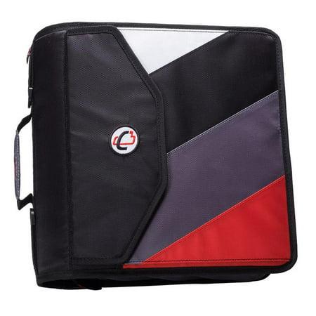 Case it 4 inch king sized zipper binder with backpack feature, black 2' Zipper Binder Portfolio
