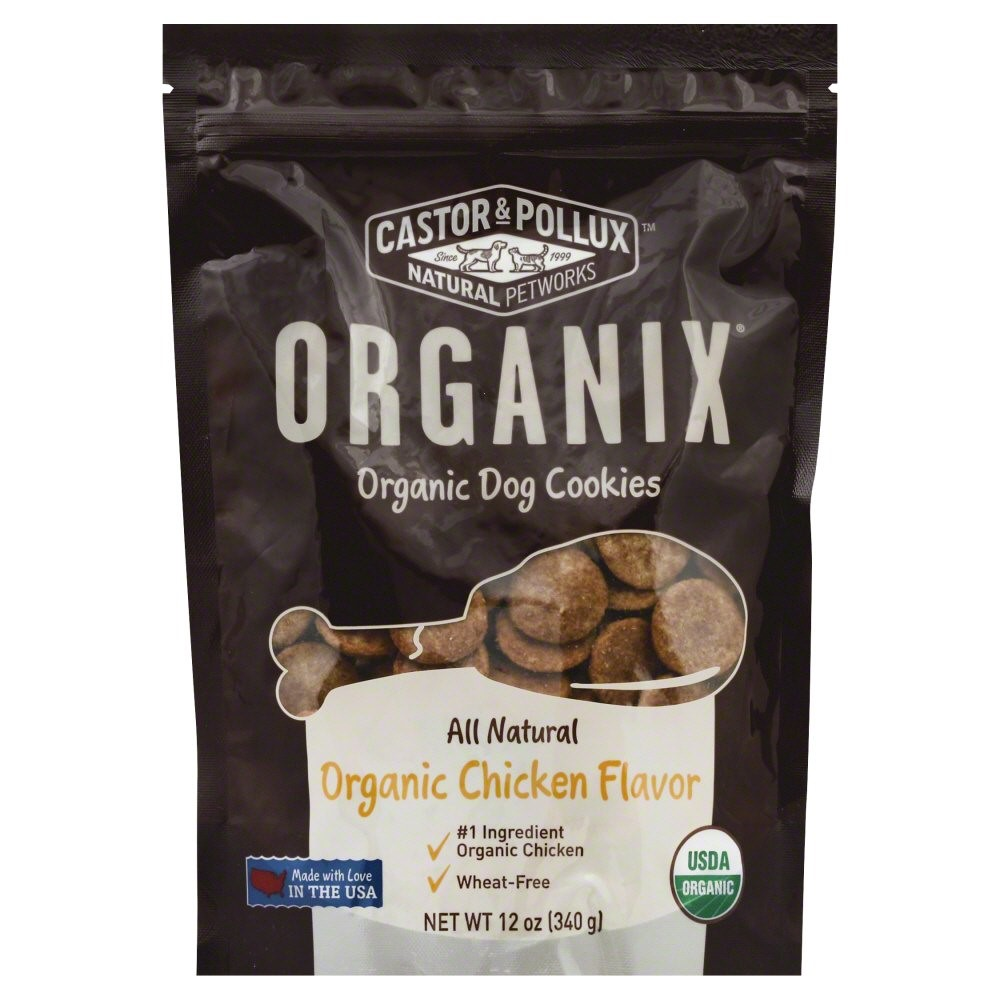 Castor & Pollux Organix Dog Cookies Chicken Dry Dog Treat, 12 oz