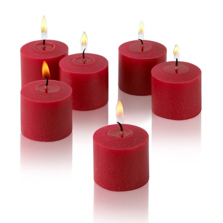Red Apple Cinnamon Scented Votive Candles Set of 12 Burn 10 - Apple Cinnamon Votive