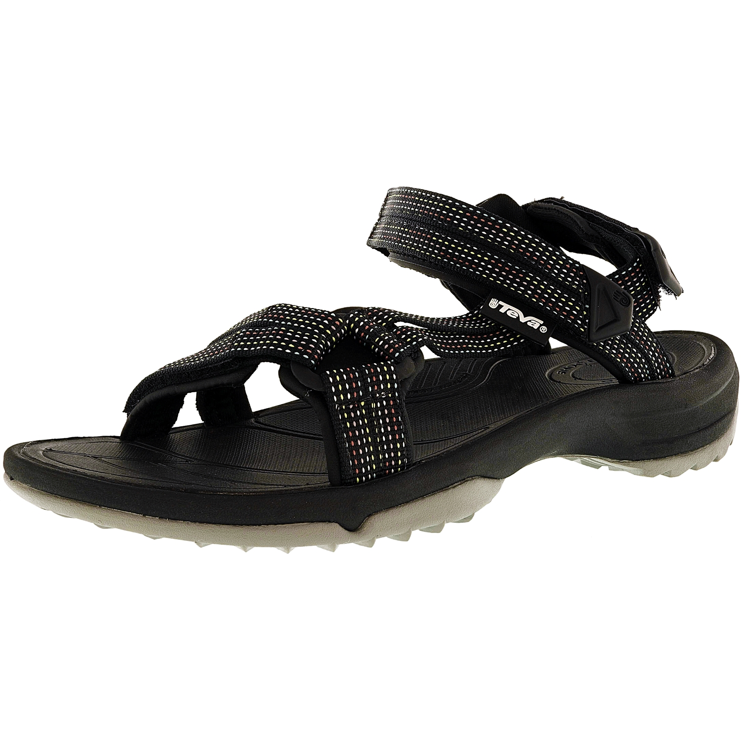 Teva Women's Terra Float Lite City Lights Black Fabric Sandal - 7M