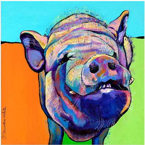 "Trademark Art ""Grunt"" Canvas Art by Pat Saunders-White"
