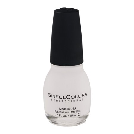 SinfulColors Professional Nail Couleur 101 Neige Me Blanc, 0.5 FL OZ
