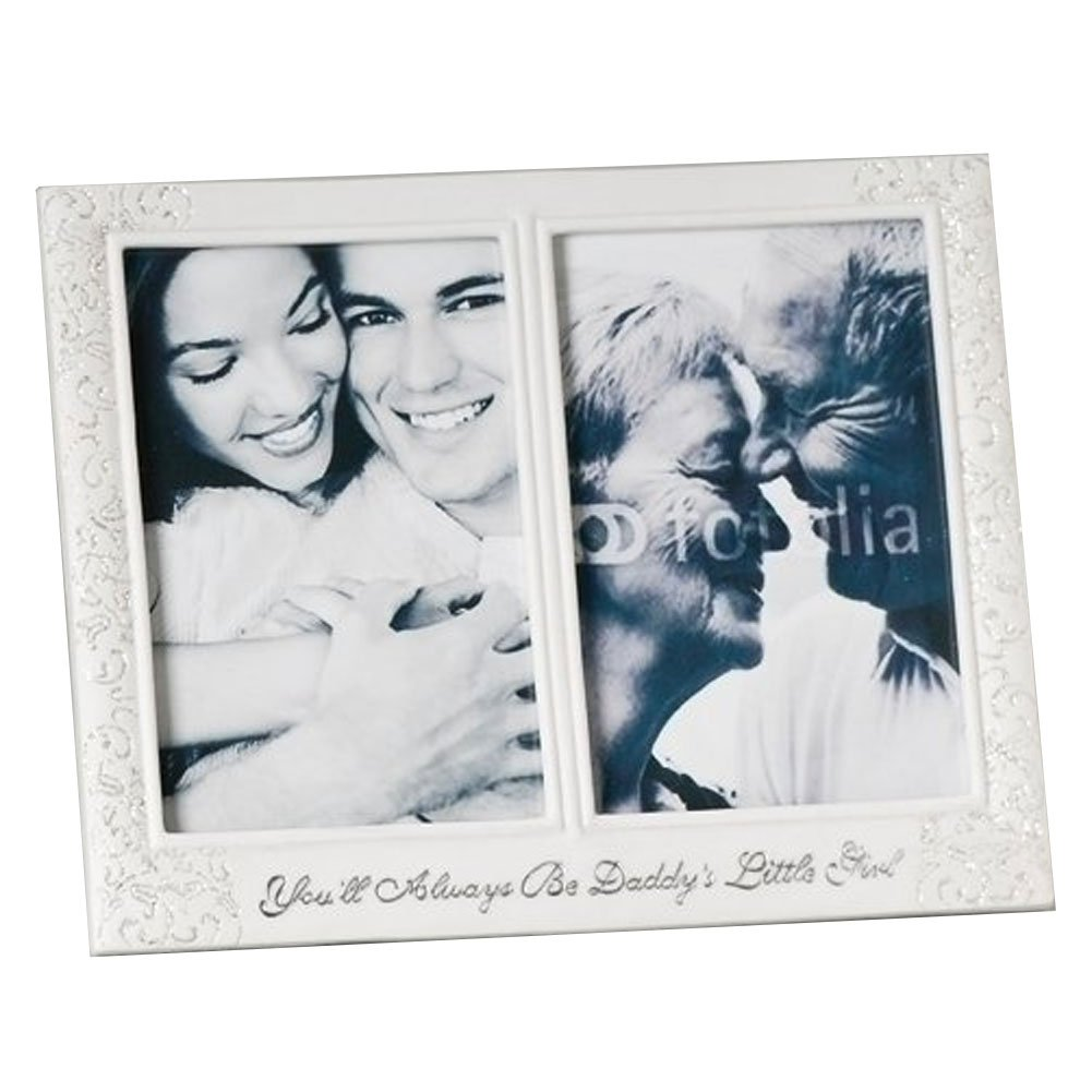 75 Daddys Little Girl Picture Frame Holds 2 4x6 Photos By Roman