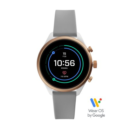 Fossil Sport Women's Smartwatch - Gray Silicone 41mm - Powered with Wear OS by Google™