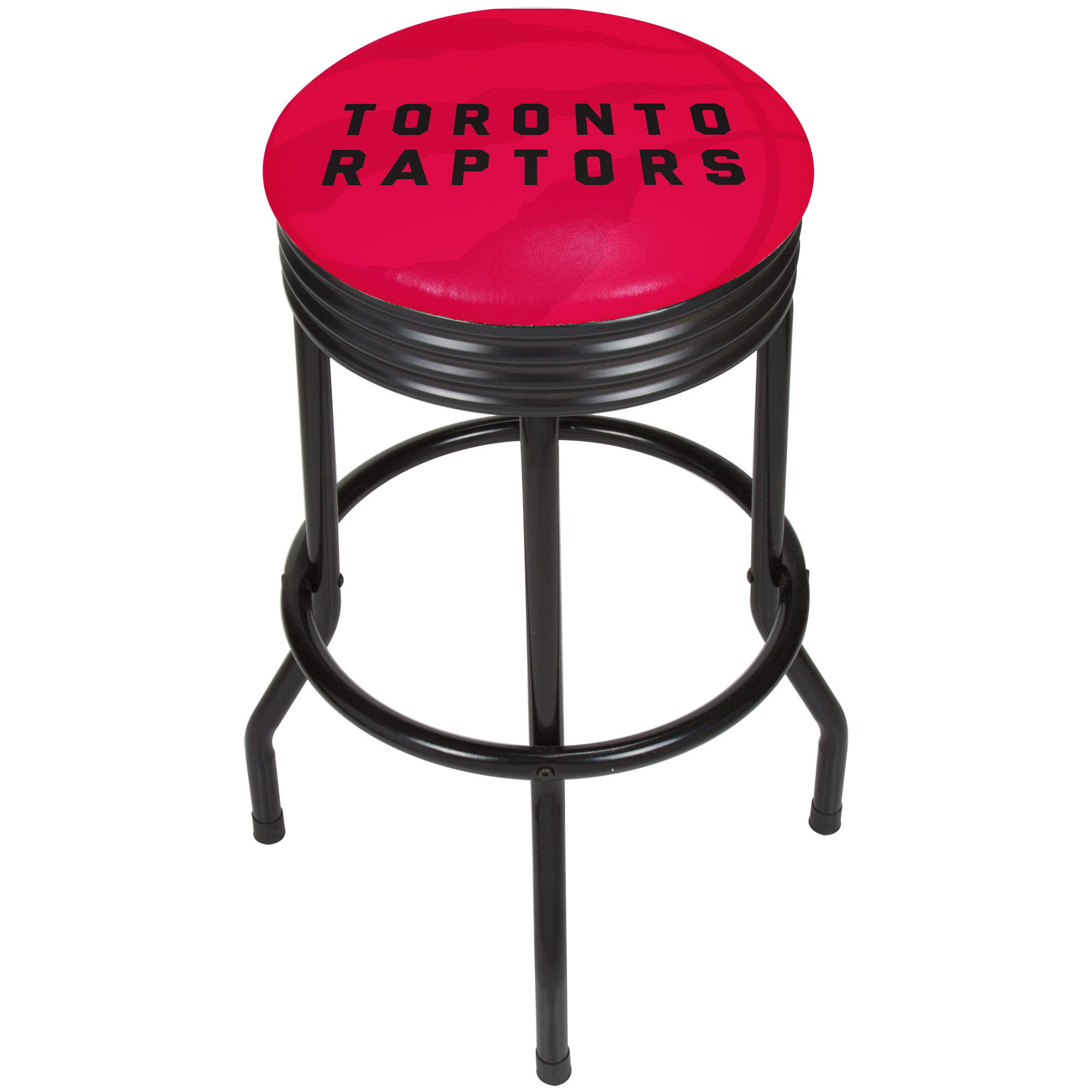 NBA Black Ribbed Bar Stool - Fade - Toronto Raptors