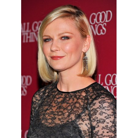Kirsten Dunst  Wearing Fred Leighton Earrings  At Arrivals For All Good Things Premiere Canvas Art     16 X 20