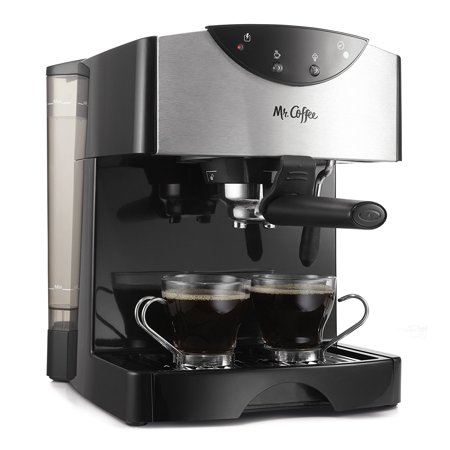 Mr. Coffee 2 Shot Pump Black Espresso & Cappuccino