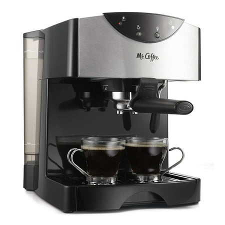 Mr. Coffee 2 Shot Pump Black Espresso & Cappuccino Maker