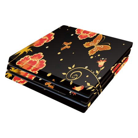 Skin Decal Wrap for Sony PlayStation 4 Pro PS4 Flower