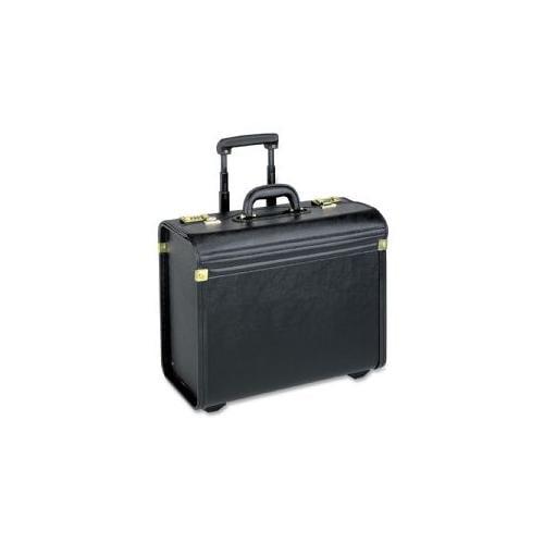 LORELL Rolling Laptop Catalog Case, 22 W, Black