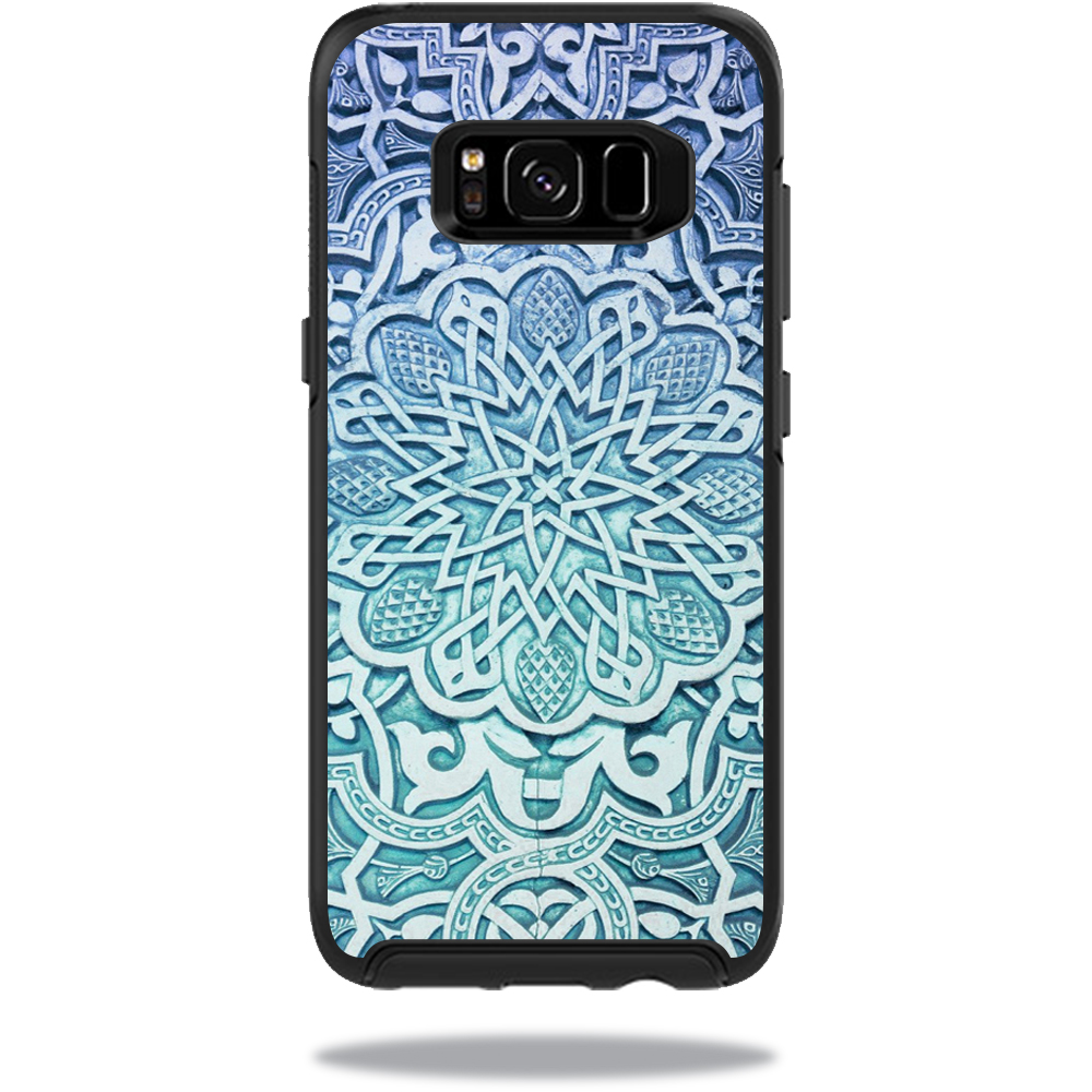 MightySkins Protective Vinyl Skin Decal for OtterBox SymmetrySamsung Galaxy S8 Case sticker wrap cover sticker skins Carved Blue