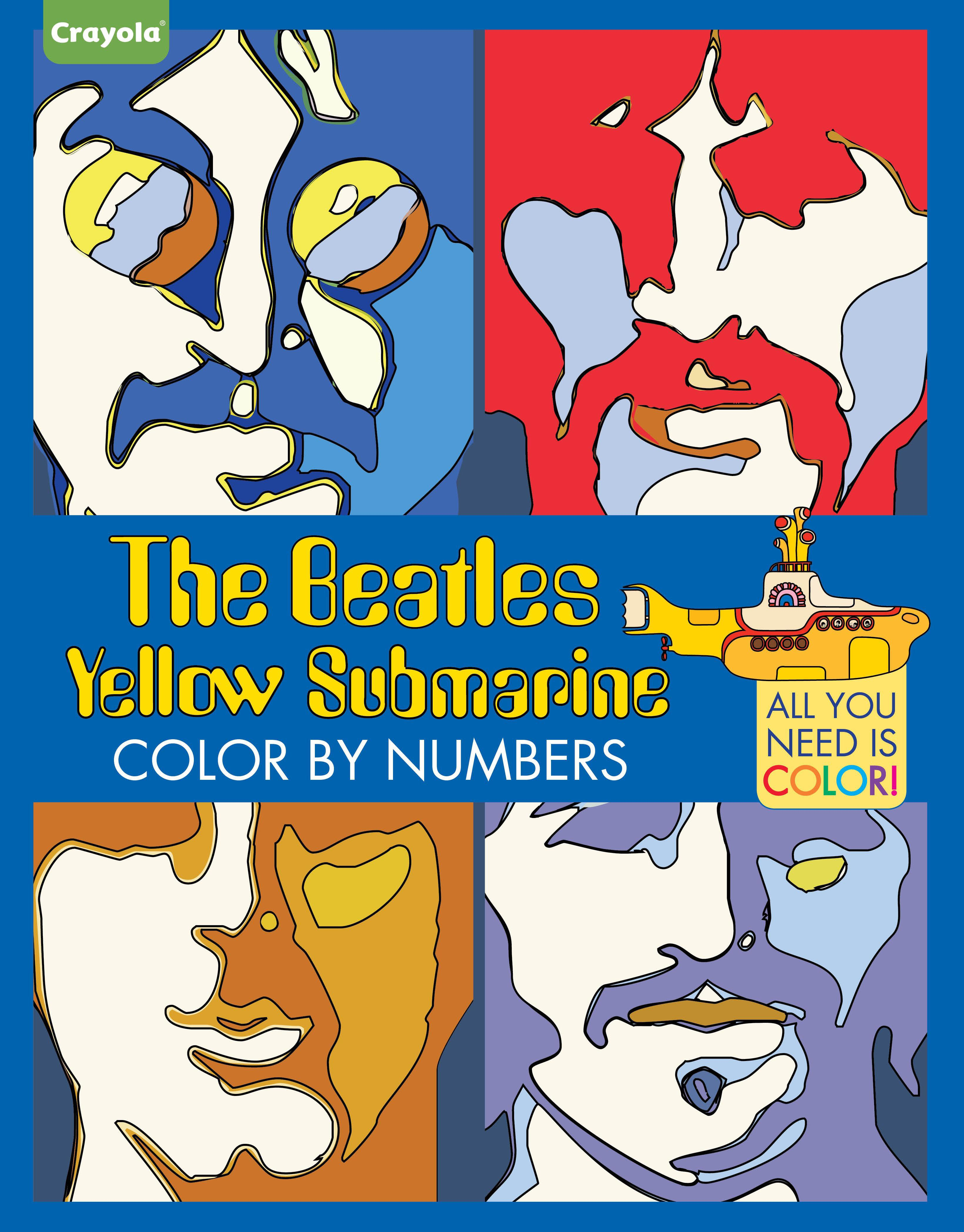 Crayola The Beatles Yellow Submarine Color By Numbers All You