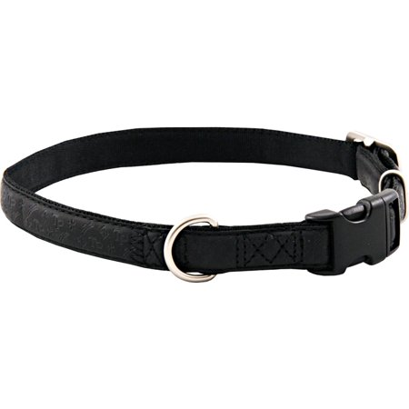 Black Faux Leather Dog Collar -
