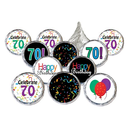 70th Birthday Party Favor Stickers 324ct