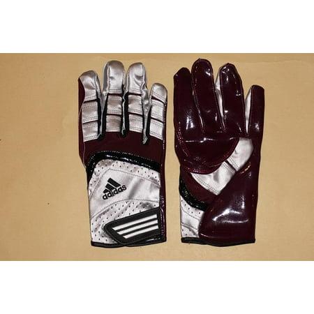 Adidas Goalkeeper Clothing (Adidas Sport Scorch Lightning Men's Football Receiver's Gloves - Metallic Silver/Lt Maroon)