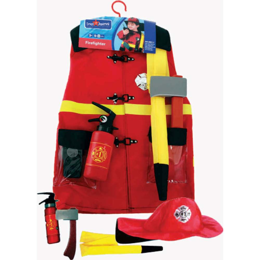 Firefighter Role Play Kids Costume