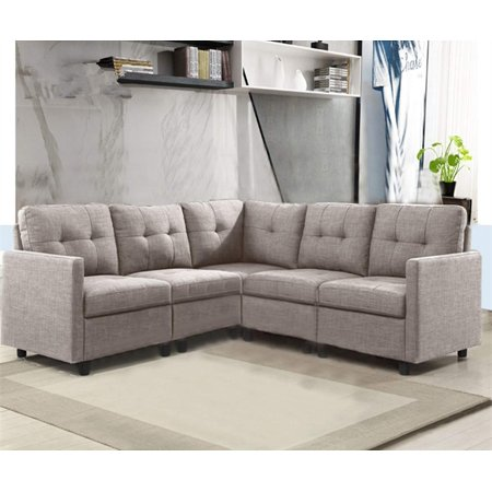 Dazone 5 Piece Modular Sectional Sofas, Small Space Living Room Furniture