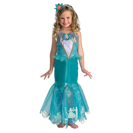 Ariel Little Mermaid Prestige Storybook Princess Girls Costume DIS50510 - 3T-4T for $<!---->