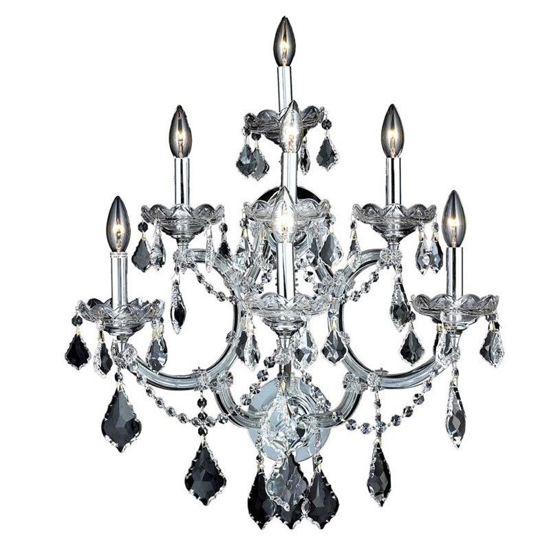 """Elegant Lighting Maria Theresa 27"""" 7 Light Spectra Crystal Wall Sconce - image 1 of 1"""