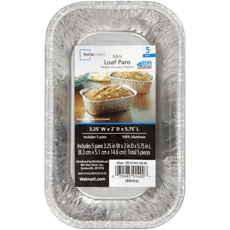 Mainstays Mini Loaf Pans 5pk Walmart Com