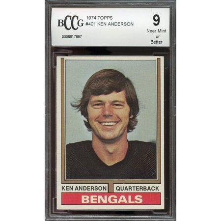 1974 Topps  401 Ken Anderson Cincinnati Bengals Bgs Bccg 9