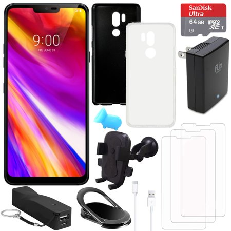 LG G7 ThinQ 64GB Smartphone (Unlocked, Black) with Accessory Bundle