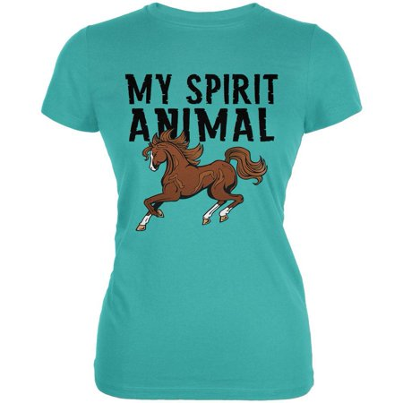 My Spirit Animal Horse Teal Juniors Soft - Horse Short