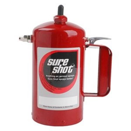 Sure Shot SUR-A1000R Red Sprayer Steel Canister Powder Coated
