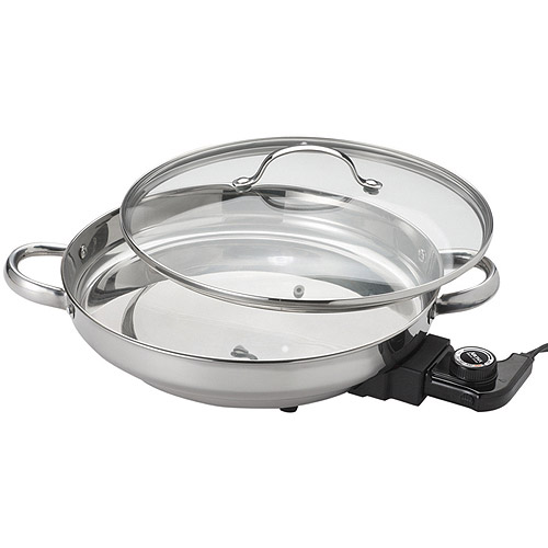 Aroma Gourmet Series Electric Skillet, Stainless Steel