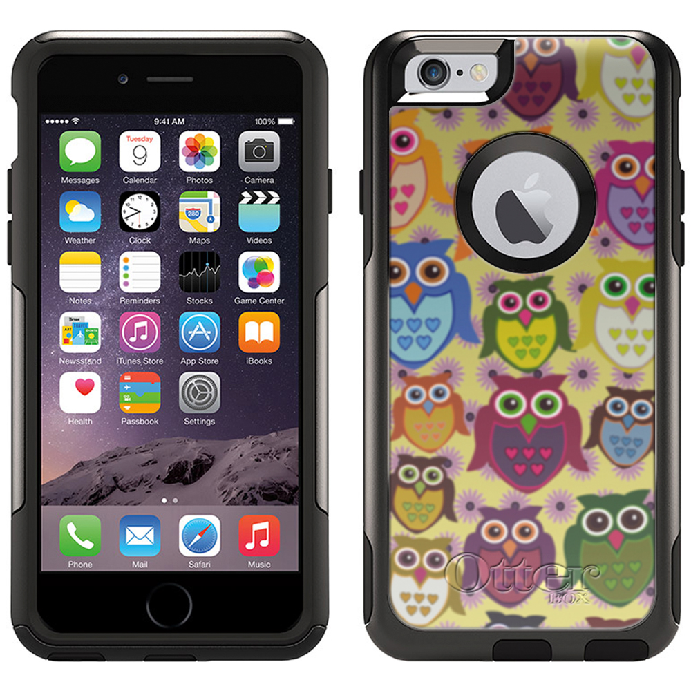 Otterbox Commuter Case for iPhone 6 - Owls and Pink Daisies