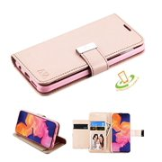 Samsung Galaxy A10E Phone Case Leather Flip ID Credit Card Cash Wallet Holder Stand Pouch Folio Magnet Extra 5 Card Slots Pocket & Kickstand Function ROSE GOLD Cover for Samsung Galaxy A10 E /A102