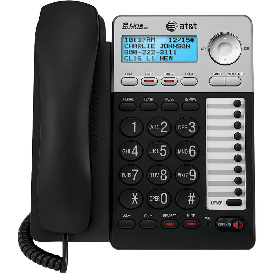 AT&T ML17929 2-Line Corded Office Phone System with Caller ID/Call Waiting and 99 Name-and-Number History, Black