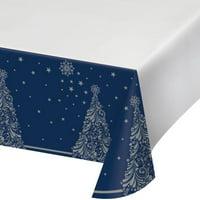 "Creative Converting Silent Night Plastic Tablecloth, 54"" X 102"""