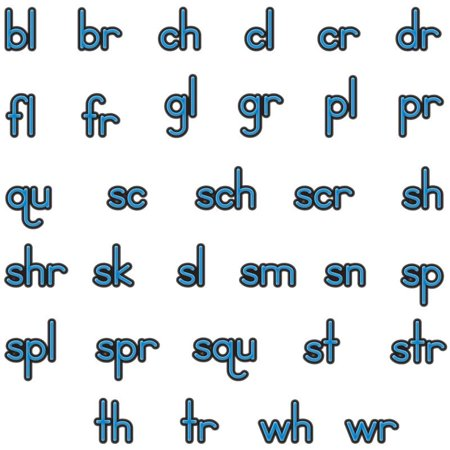 (EZread Soft Touch™ Magnetic Beginning Blends And Digraphs)