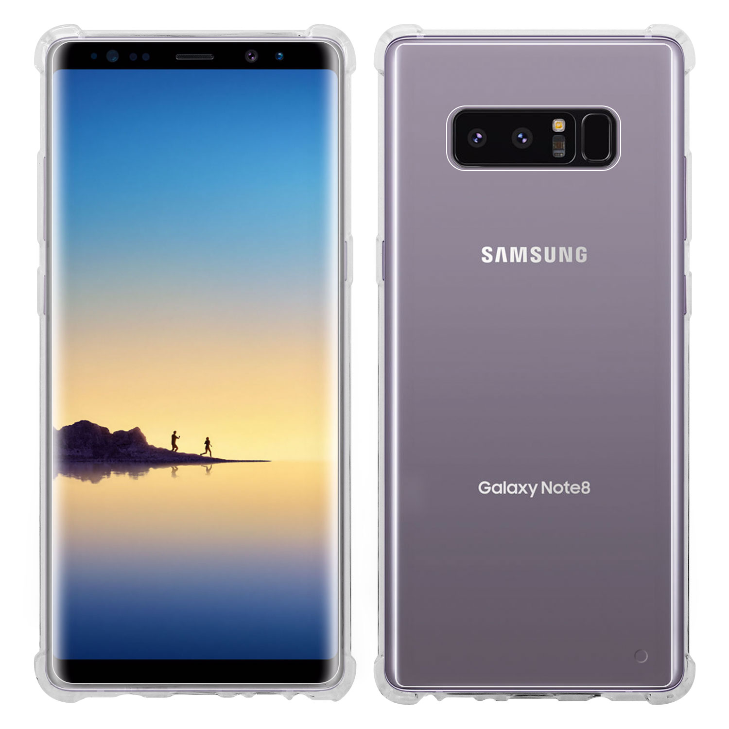 Galaxy Note 8 Case, Transparent Shockproof and Scratch Resistant Case for Samsung Note 8 by Cellet - Clear