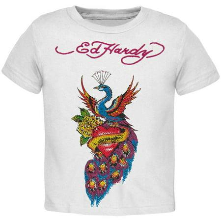 Ed Hardy - Peacock & Heart Girls Juvy T-Shirt (Peacock Girl)